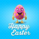 Carte postale heureuse de Pâques, carte de voeux, joyeuse félicitation de Pâques Image libre de droits