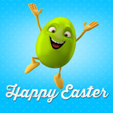 Carte postale heureuse de Pâques, carte de voeux, joyeuse félicitation de Pâques Images stock