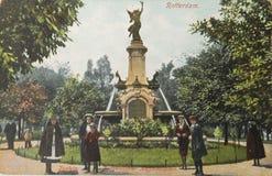 Carte postale historique de Rotterdam en 1907 Image stock