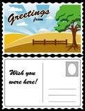 Carte postale, horizontal de pays Images libres de droits