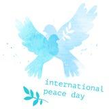 Carte postale internationale de jour Photo stock