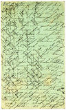 Carte postale italienne antique Image libre de droits