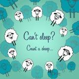 Carte postale mignonne de moutons pour chaque jour Images libres de droits