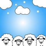 Carte postale mignonne de moutons pour chaque jour Images stock