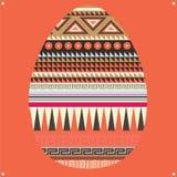 Carte postale ornementale d'oeuf de pâques Photos libres de droits