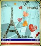 Carte postale parisienne Photo stock