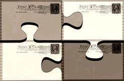 Carte postale perplexe Photos libres de droits