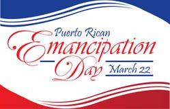 Carte postale portoricaine de jour d'émancipation Photos libres de droits