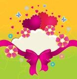 Carte postale pour des amoureux Image libre de droits