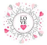 Carte postale pour la Saint-Valentin illustration de vecteur