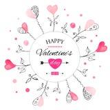 Carte postale pour la Saint-Valentin illustration libre de droits