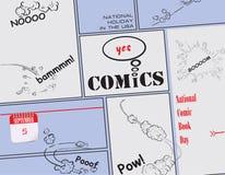 Carte postale pour le jour de bande dessinée illustration stock