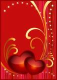 Carte postale pour le jour de Valentine Photo libre de droits