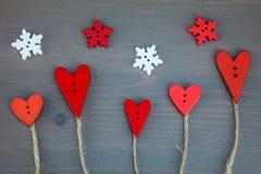Carte postale pour Valentine Amour de bouton Images libres de droits