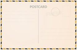 Carte postale réaliste illustration de vecteur