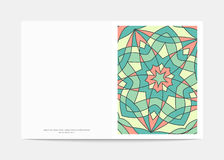 Carte postale rétro Couverture consécutivement avec un modèle lumineux Photos stock