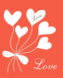 Carte postale romantique Photos stock