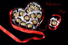 Carte postale romantique pour le jour du ` s de Valentine Images libres de droits