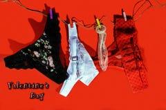 Carte postale romantique pour le jour du ` s de Valentine Photo libre de droits
