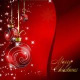 Carte postale rouge de Noël Photo stock