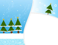 Carte postale simple d'hiver Images stock