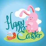 Carte postale typographique heureuse de Pâques Photographie stock