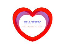 Carte postale Valentine heureux Illustration de Vecteur