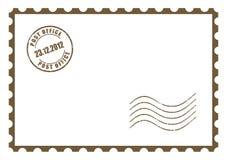 Carte postale vide de vecteur Photos stock