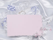 Carte pour des accessoires des textes et de mariages photos stock