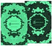 Carte pour la félicitation ou l'invitation exécuté dans un style luxueux de vintage illustration libre de droits