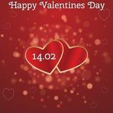 Carte pour la Saint-Valentin Photographie stock