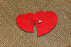 Carte pour la Saint-Valentin dans le rétro style Image stock