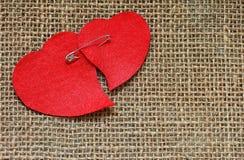 Carte pour la Saint-Valentin dans le rétro style Photographie stock