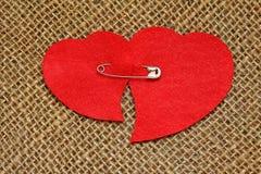 Carte pour la Saint-Valentin dans le rétro style Photos stock