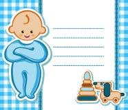 Carte pour le bébé garçon illustration stock