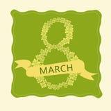 Carte pour le 8 mars Jour du ` s de femmes, ENV 10 Photos libres de droits