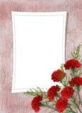 Carte pour les vacances avec la fleur Photographie stock libre de droits