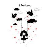 Carte pour Valentine Image libre de droits