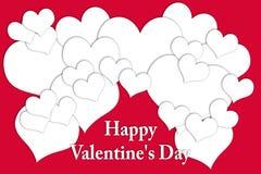 Carte pour Valentine& x27 ; jour de s Photographie stock libre de droits