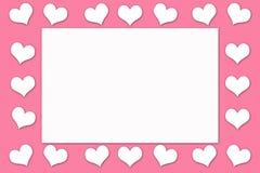 Carte pour Valentine& x27 ; jour de s Photos stock