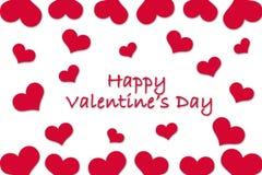 Carte pour Valentine& x27 ; jour de s Image libre de droits