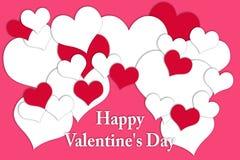 Carte pour Valentine& x27 ; jour de s Image stock