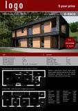 Carte préparée de maison complète pour la commercialisation et la vente Image libre de droits