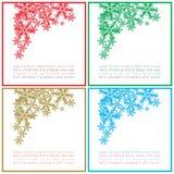 Carte quadrate di Natale di saluti Immagine Stock Libera da Diritti