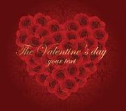 Carte romantique Photographie stock