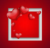 Carte romantique Image libre de droits