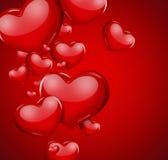 Carte romantique Photos stock