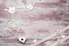 Carte romantique de cru Photographie stock libre de droits