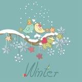 Carte romantique de l'hiver Image libre de droits