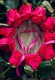 Carte romantique du jour de Valentines de saint avec des roses Image libre de droits